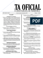 Gaceta Oficial N° 40.952 - Notilogía