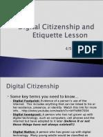 digital citizenship and etiquette lesson