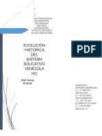 Evolución Histórica Del Sistema Educativo Venezolano
