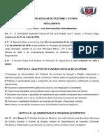 Regulamento ATUALIZADO - 3º Desafio Escolar de Atletismo - 2ª Etapa