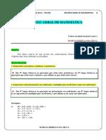 Revisão Geral de Matemática - Marcia Rebello Da Silva