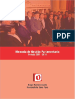 Memoria 2011-2016 Bancada Nacionalista Gana Peru