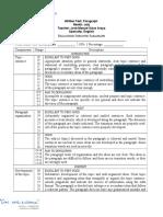 Written Test - Paragraph Evaluation Form