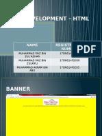 Web Development – HTML Page