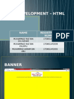 Web Development – HTML Page
