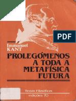 Prolegomenos a Toda Metafisica Futura KANT
