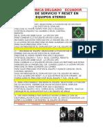 Modo de Servicio y Reset en Equipos Stereo Lg