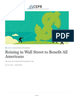Reining in Wall Street to Benefit All Americans