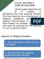 Article III, Section 5