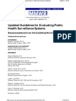 Cdc Guidelines Surveillance Evaluation