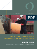 Thordon Seawater Lubricated Propeller Shaft Bearings