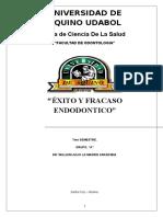 Exito y Fracaso Endodontico