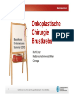 Cancer School Brustkrebs Chirurgie