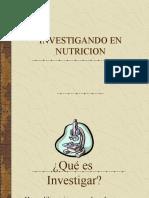 INVESTIGAndo en Nutricion