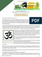 Secrets of Pranava Mantra Om !