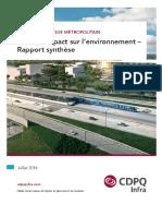 Réseau électrique métropolitain - Étude d'impact d'environnement