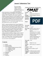 Graduate Management Admission Test
