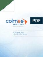 Ponencias Segundo Colmee 2015 México