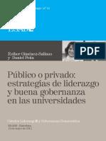 41. Esther Giménez-Salinas y Daniel Peña. Público o Privado Estrategias de Liderazgo y Buena Gobernanza en Las Universidades