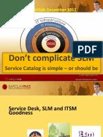Barclay Rae BRIGHTTALK Presentation Dec 2012 Service Catalog