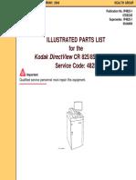 Kodak DirectView CR-825,850 - Parts List