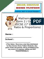 Maths Ratio