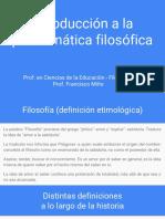 Introducción a La Problemática Filosófica