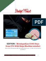 blackhat mindset Mendapatkan $100 per Days from CPA With Ninja Blackhat mindset