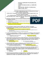 Examen de Primer Parcial de Biologia Version 1 1s 2014