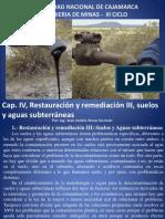 Cap. VI, Restauracion y Remediacion III, Suelos y Aguas Subterraneas