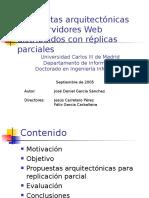 Propuestas arquitectónicas para servidores Web distribuidos con réplicas parciales