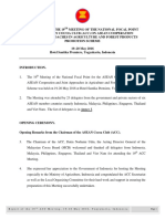 Report of the 19th Meeting on the National Focal Point for Asean Cocoa Club