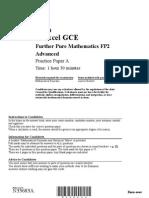 FP2 Practice Paper A