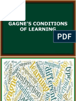 Gagnes Conditions of Learning