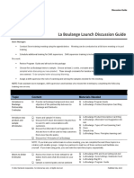 La Boulange - Launch Discussion Guide - July and August