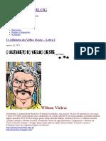 O Alfabeto Do Velho Oeste – Letra I, por Wilson Vieira.
