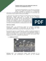 MANUAL DE BUENAS PRÁCTICAS DE MANUFACTURA DE PRODUCTOS FARMACÉUTICOS BPM
