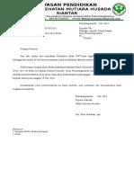 Surat Pemberithahuan Libur Dinas