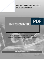 INFORMÁTICA I Guía de Actividades Del Alumno Para El Desarrollo de Competencias