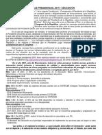 MENSAJE PRESIDENCIAL 2016 - EDUCACIÓN