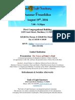 flyer - summer presentation