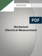 01 Electrical Measurement Worksheet