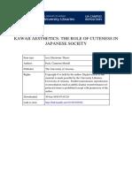 Kawaii Aesthetics the Role of Cuteness in Japanese Society