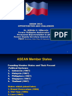 ASEAN-2015 Challenges-Opportunities Dr WilfridoVillacorta
