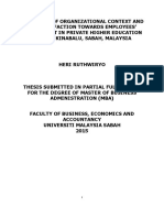 The Effect of Organizational Context and Job Satisfaction Towards Employees' Engagement in Private Higher Education in Kota Kinabalu, Sabah, Malaysia