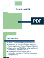 ANOVA (QUALITY MANAGEMENT)