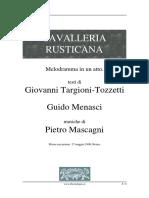 Libretto Cavalleria Rusticana