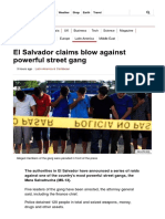 El Salvador Claims Blow Against Powerful Street Gang - BBC News