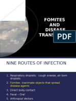 Fomites and Disease Transmission
