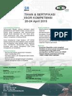Brosur Pelatihan Sertifikasi Asesor Kompetensi MSDM Surabaya